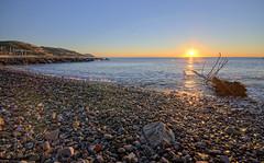 Alba alla Baia delle Vele (danilodld) Tags: sea sun seascape beach nature sunrise landscape liguria hdr imperia sanlorenzoalmare 2014copyrightdanilodelorenzisdld©serialnumber624340