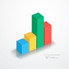 bar graph chart (vecree.com) Tags: white chart abstract modern illustration paper design web graph minimal clean business data presentation concept shape simple information vector infographic