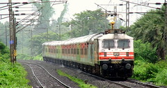 The Most Expensive & Famous Premium Train of Indian Railways. (CHIRAG SAGAR) Tags: new train power delhi indian famous central special most brc expensive mumbai ac skipping bound railways silently premium the vadodara 22913 30056 wap5 ndls uoi umroli