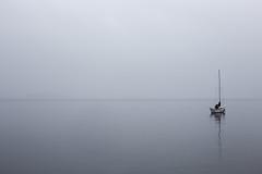 All alone (Maria Klang) Tags: sea mist fog sailboat boat haze bt hav segelbt dimma mariaklang