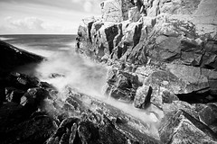 kullaberg rocks (Andreas Lf) Tags: longexposure blackandwhite seascape nature water monochrome clouds landscape skne rocks sweden tripod nopeople motionblur scandinavia kullaberg sigma1020mm kattegatt nordics lightcraftworkshopnd500 sonyalphaslta77