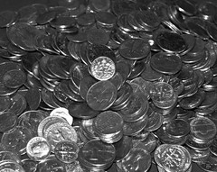 2014_1118Spare-Change-B&W0002 (maineman152 (Lou)) Tags: november bw coin coins maine change bwphoto blackandwhitephoto madmoney rainydayfund christmasstashofcoins savedpocketchange