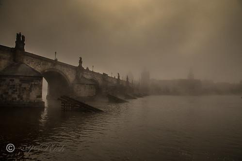 Prague - Mystical Charles Bridge-Old Photo