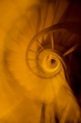 Fading Stairs (giacomobro) Tags: orange paris france scale yellow stairs nikon europa europe stair pantheon dungeon giallo scala fading francia crypt cripta arancione parigi mosso sfuocato sotterranei evanescenti d5100 giacomobro