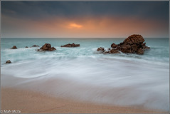 _81C7162.jpg (Mafr-Mcfa) Tags: espaa mar agua playa arena amanecer nubes cielos nube playas rocas santpoldemar amaneceres