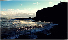 Rough Water at Auchmithie (EXPLORE) (ronramstew) Tags: auchmithie