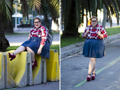 (lidiajuvanteny) Tags: leather shirt dorothy glasses outfit pumps skirt curvy tartan plussize monki jeffreycampbell kaleos asoscurve