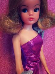 Sindy, pretty in purple (miss♡sindy) Tags: vintage silver evening glamour doll dress purple portait sparkle honey blond blonde dolly active pedigree glitterball sindy