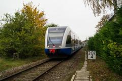 UBB Ausfahrt Ahlbeck Ostseetherme (OnkelKrischan) Tags: deutschland eisenbahn insel deutschebahn bahn usedom ubb reisende usedomerbderbahn br646