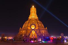 Night Temple (jacipena1) Tags: california man burning bm burners burningman2014 nevadablackrockdesert