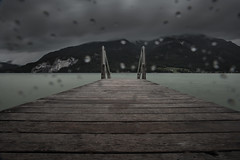 Dismal Mood (WIE?GAND! PHOTOGRAPHY) Tags: mountain lake water rain fog clouds dark austria drops dismal cloudy rainy base stay athmosphere