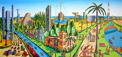 naive paintings art tel aviv landscape city israeli artist painter (iloveart106) Tags: city art landscape artist tel aviv paintings painter naive israeli