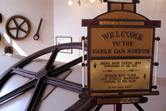 "Cable Car Museum welcome sign • <a style=""font-size:0.8em;"" href=""http://www.flickr.com/photos/34843984@N07/15522832616/"" target=""_blank"">View on Flickr</a>"