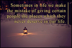 Popular inspirational quotes at EmilysQuotes (EmilysQuotes) Tags: life people relationship unknown mistake deserve