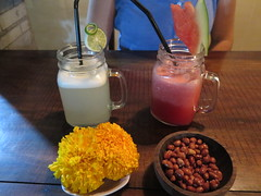 """Lemon juice, watermelon juice et cacahuètes grillées <a style=""""margin-left:10px; font-size:0.8em;"""" href=""""http://www.flickr.com/photos/83080376@N03/15529574806/"""" target=""""_blank"""">@flickr</a>"""