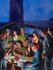 High Stakes Poker, cover illustration, c. 1965 by Mort Kunstler (Tom Simpson) Tags: illustration vintage action wwii adventure poker worldwarii pulp mensmagazine pulpart mortkunstler mortknstler