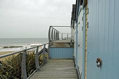 Alum Chine (dawn.v) Tags: uk sea england beach coast seaside nikon october doors lock pastel blues shore dorset railings bournemouth beachhuts britishseaside alumchine bournemouthseafront