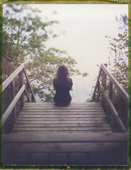 Listening To The Gentle Waves (Bastiank80) Tags: camera woman color film nature