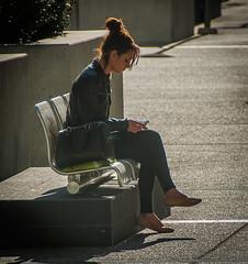 Sunny morning (Pedro1742) Tags: morning girl bench sunny backlighting