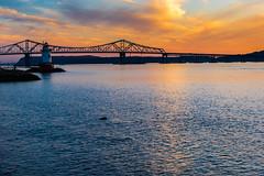 View of the Tappan Zee Bridge (Havoc315) Tags: park sunset lighthouse river point nikon d750 hudsonriver hudson kingsland westchester tappanzeebridge kingslandpointpark nikond750