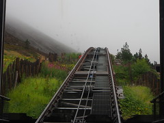 cable car (jmarnaud) Tags: family summer cloud mountain rain fog scotland highlands aviemore 2014 chuma