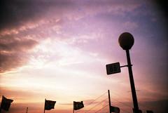 sunset (somekeepsakes) Tags: sunset film analog germany deutschland lca europa europe sonnenuntergang analogue dsseldorf rhine rhein 2010 agfavista200