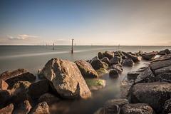 Lake scape (Demis de Haan) Tags: bw lake holland amsterdam de landscape big rocks meer long exposure 110 nd scape ijssel haan mrc stopper zeedijk demis uitdam uitdammerdijk