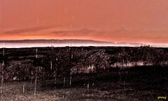 Showers at Sunset (photo fiddler) Tags: sunset rain island shower october capebreton porthood 2014