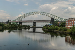 Railway Bridge and Runcorn-Widness Bridge (hilofoz) Tags: england cheshire runcorn