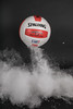 Spalding (spasticsparky) Tags: baby speed ball high flash explosion powder volleyball bounce bouncing babypowder