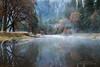 Fog on the Merced - Yosemite National Park (Darvin Atkeson) Tags: california morning mist reflection nature water misty fog river mirror nationalpark moody quiet natural nirvana peaceful merced calm canyon valley yosemite pure darvin atkeson darv lynneal yosemitelandscapescom