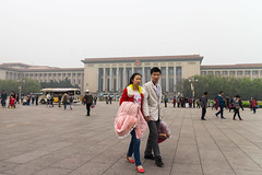 Forbidden City bound. (Steven Sy 2.0) Tags: china street city people building canon walking grey smog holding couple hand gray beijing m communist communism forbidden government suspicious squinting forbiddencityarea canoneosm efm1855mmf3556isstm