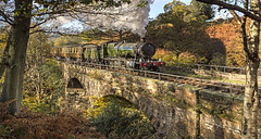 Great Western - 2807 at Water Ark (Katybun of Beverley) Tags: bridge autumn landscape steam steamtrain yorkshiremoors goathland nymr greatwestern 2807 waterark