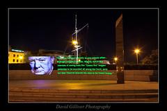 Winston Churchill: (Pikebubbles) Tags: longexposure nightphotography lightpainting churchill winstonchurchill 365 lightgraffiti guernsey channelislands project365 365project davidgilliver lightjunkies pixelstick davidgilliverphotography