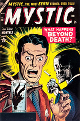 Mystic #30 (1954), cover by Russ Heath (Tom Simpson) Tags: illustration vintage comics skeleton death skull 1954 1950s comicbook surprise horror mystic beyonddeath russheath