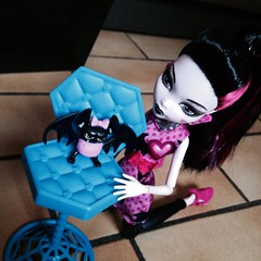 You drove us off the road!!! (MyMonsterHighWorld) Tags: monster high doll photoshoot fangs fabulous mattel count draculaura draculocker