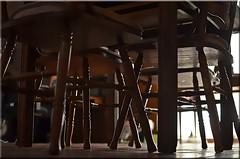 Weekly Theme Challenge-Sous La Table (HAPPY 4TH EVERYONE!!!) Tags: wood light brick table rust shadows floor diningroom downlow underthetable souslatable weeklythemechallenge