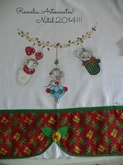 Pano de pratos. (romelia.artesanatos) Tags: pao prato pintura tecido ratinhos natalino patcwork