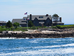 This is George Bush and his family's summer house in Maine. Their oil Wealth has given them opportunity to live in luxury for the rest of their life's.