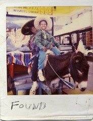 FOUND: Donkey Boys (delunula dot com) Tags: sonora mexico polaroid found nogales 1998 sombrero viva instantfilm