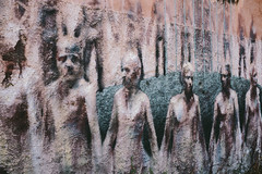 Visions (lorenzoviolone) Tags: italy streetart rome mural fav50 grain streetphotography kodakportra400vc finepix fujifilm sanlorenz