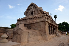 Pancha Rathas, Kanchipuram, India (josepsalabarbany) Tags: travel sea people sculpture sun india elephant art beach church architecture temple asia god fort stupa delhi bangalore goa victorian fatehpursikri streetlife tajmahal