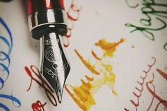 TWSBI 580 Fine nib (ZekaG) Tags: macro art classic bronze ink writing canon amber goodness apache fountainpen inking finenib penaddict twsbi fpgeek inkyoddness twsbipen