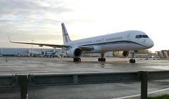 SX-RFA BOEING 757-200 PRIVATE (douglasbuick) Tags: private greek scotland buick airport flickr glasgow aircraft aviation panasonic boeing douglas b757200 dmcfz50 sxrfa gainjet