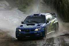 Watersplash-check. Muddy road-check. Perfectly executed slide into right turn-check. #Solberg making it look easy. (DIrally) Tags: rally subaru impreza wrx sti rallycross dirtyimpreza