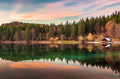 Lower Fusine Lake (Ettore Trevisiol) Tags: ettore trevisiol nikon d300 nikkor 18 70 landscape friuli italy mountain fusine lake lago di italia mangart autunno autumn tramonto sunset