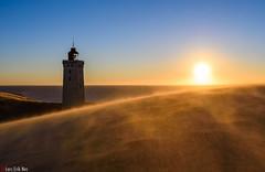 Windy (HrNes) Tags: facebook instagram flickr denmark rubjergknude lighthouse fyr sand wind color nikon d750 windy seascape mood sunset