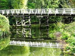 Reflections in the lake. (detlefgabriel17) Tags: bridge brcke lake see reflektionen reflections lowersaxony stade northgermany water wasser