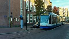 Marathomleiding (Peter ( phonepics only) Eijkman) Tags: amsterdam city combino detour omleiding gvb tram transport trams tramtracks rail rails strassenbahn streetcars nederland netherlands nederlandse noordholland holland