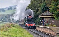60103. Passing Irwell Vale . (Alan Burkwood) Tags: elr irwellvale lner gresley a3 60103 flyingscotsman steam locomotive